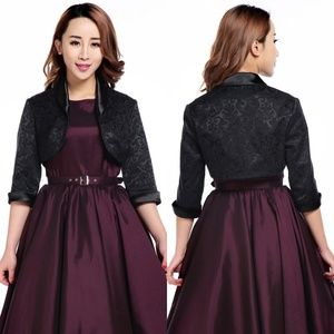 Jackets & Blazers - Plus Size Formal Bridesmaid Bolero Shrug Jacket